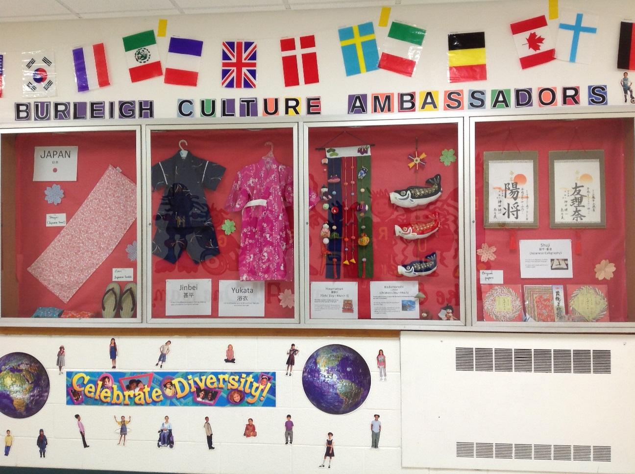 Cultural Ambassadors Display- Japan