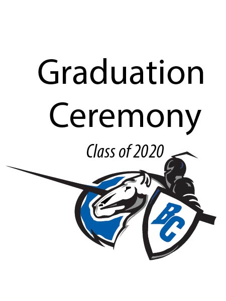 BCHS graduation ceremony graphic
