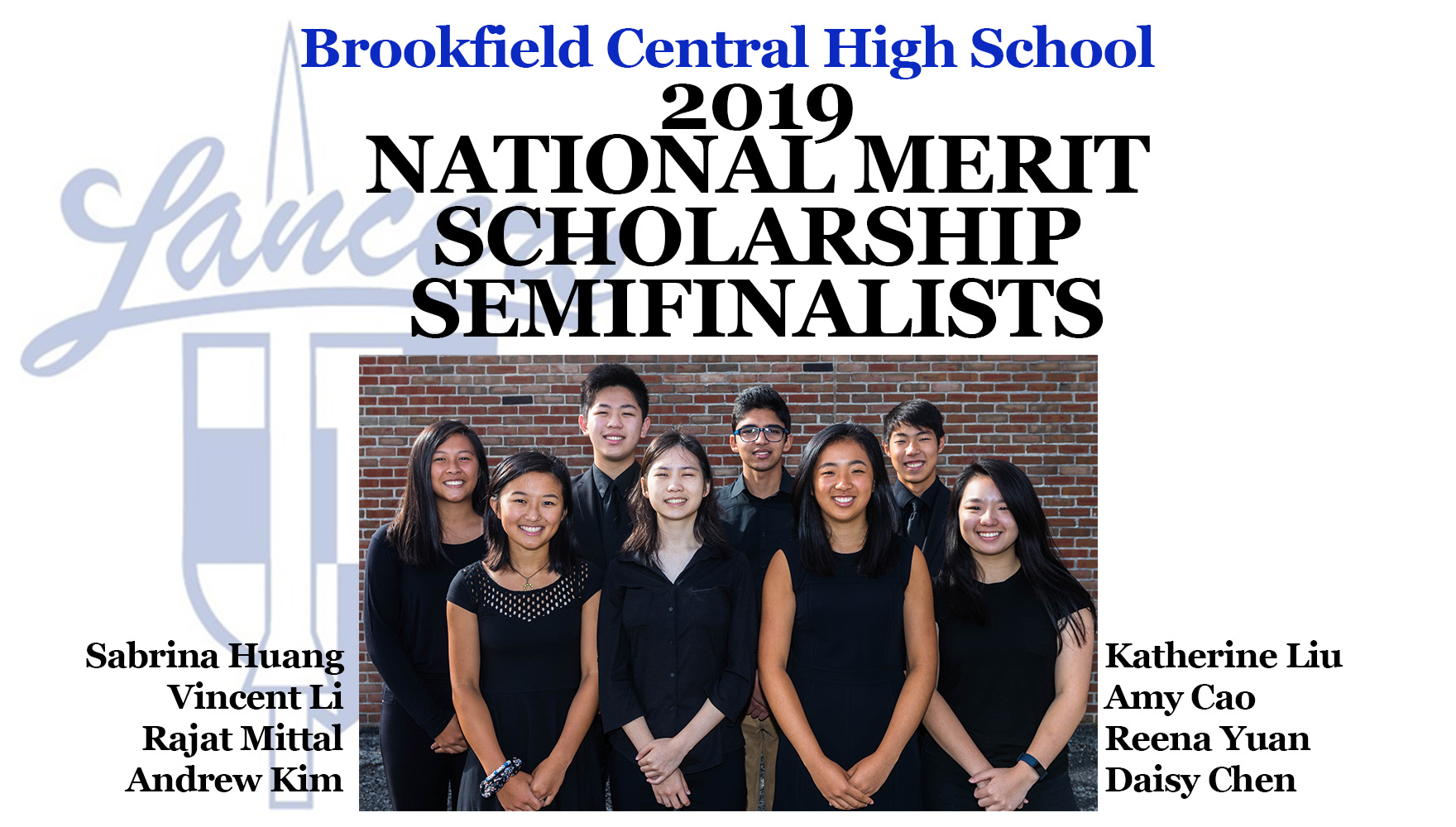 BCHS 2019 National Merit Scholarship Semifinalists