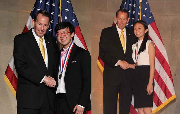 Julian and Sophia receive Presidential Scholar medals