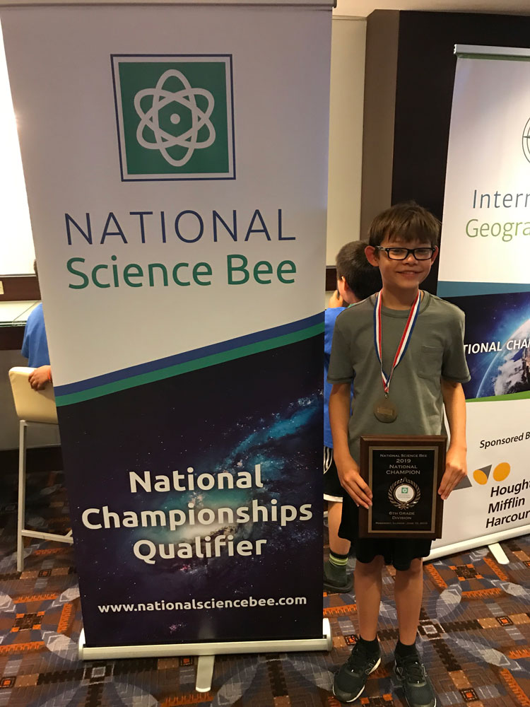 Joshua Wang National Science Bee champion